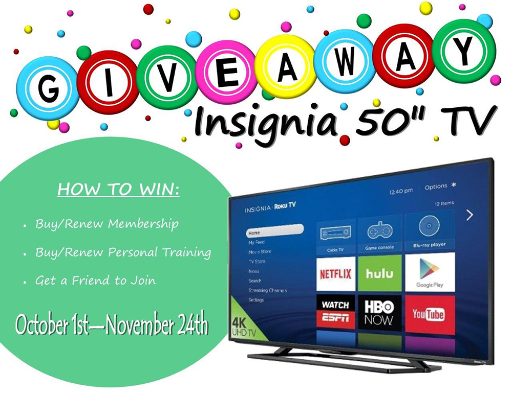 "50"" Television Giveaway"