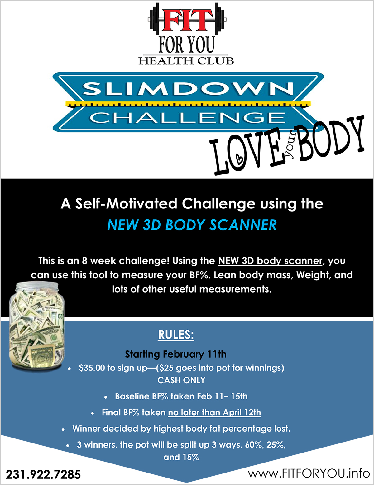Fit for You Slim Sown Challenge