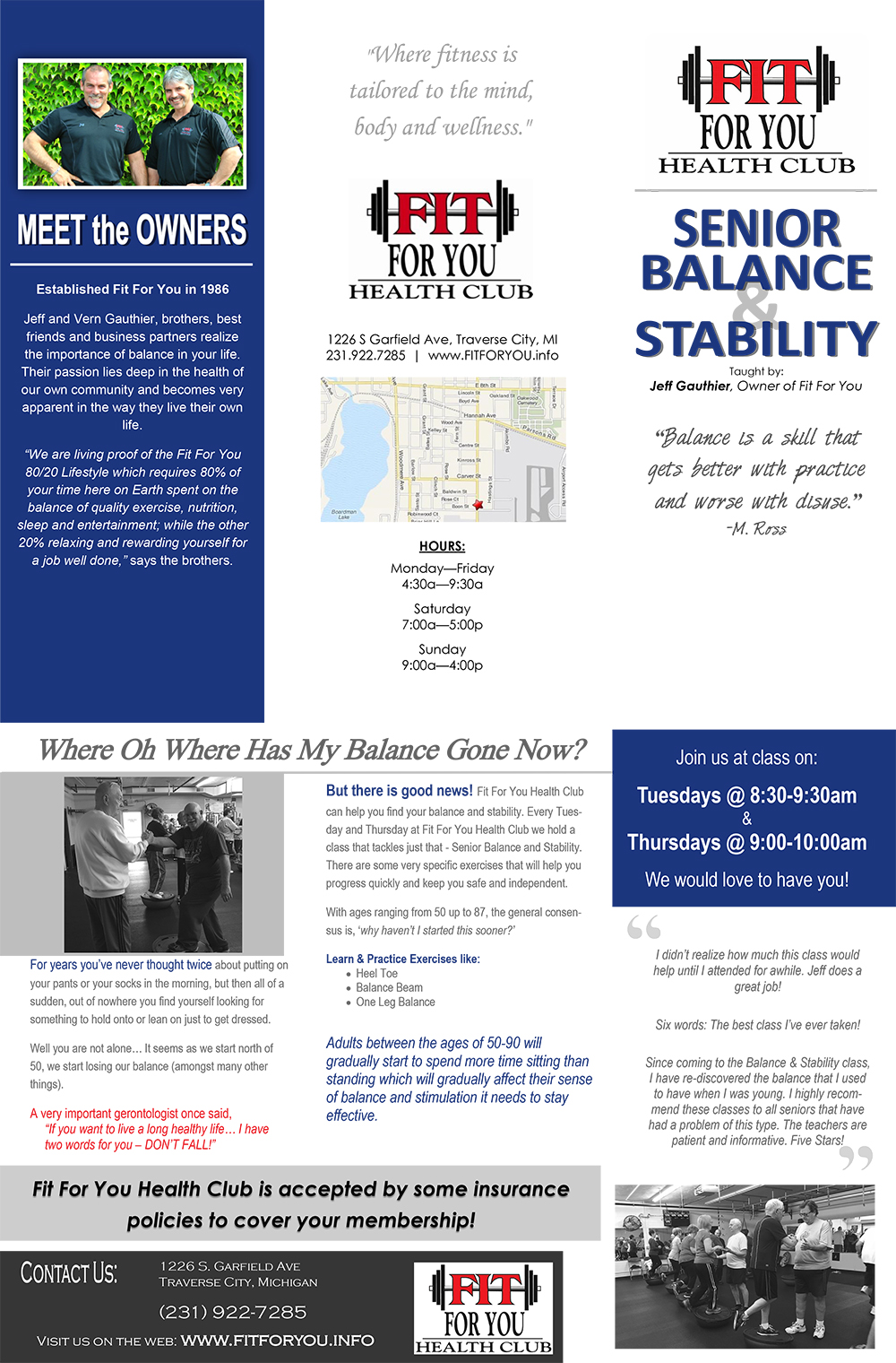 Senior Balance & Stability Classes
